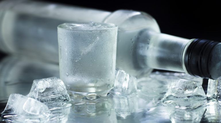 Wodka auf Eis