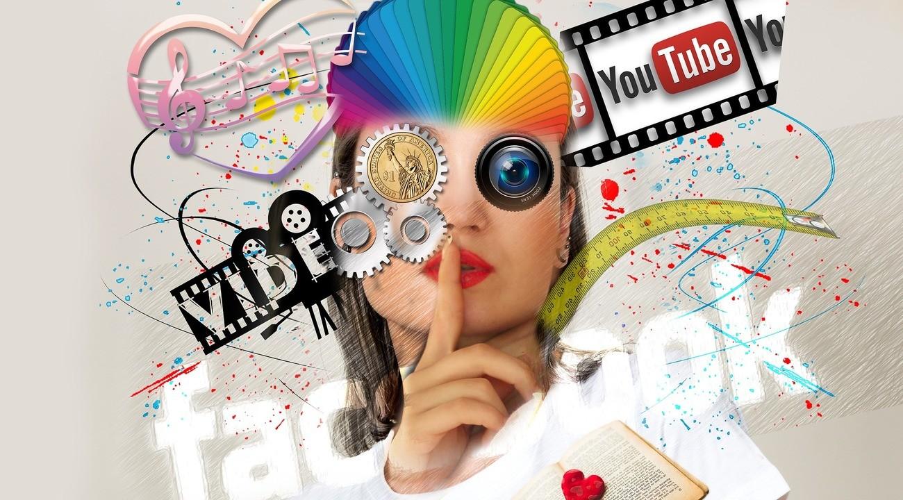 Collage zum Thema Werbung mit Social Media